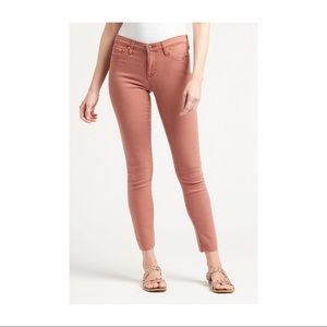 Lucky Brand Pink Rose Brooke Skinny Jeans
